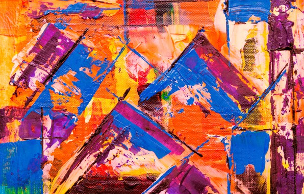 Картинка линии, краска, холст, разноцветный, мазки