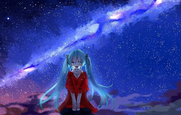 Картинка sadness, abyss, anime girl