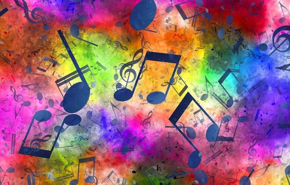 Картинка ноты, музыка, скрипичный ключ
