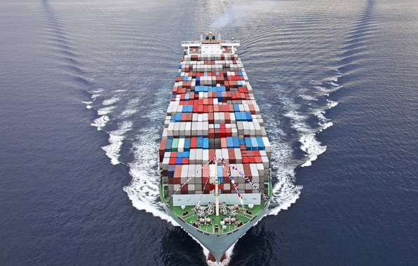 Картинка trade, containers, commercial vessel