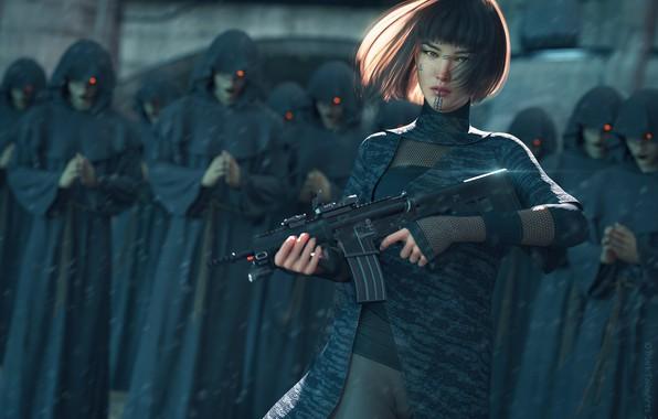 Картинка Characters, Science Fiction, Cyberpunk, Digital 3D
