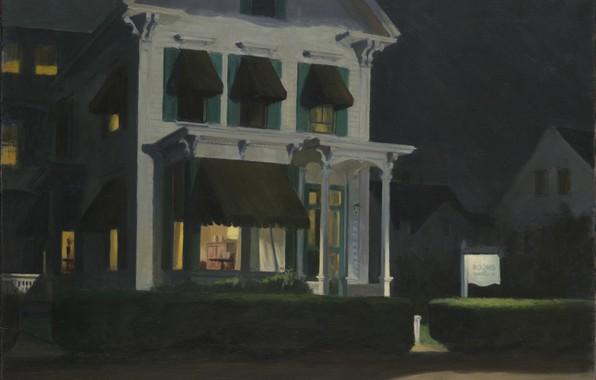 Картинка Эдвард Хоппер, 1945, Rooms for Tourists
