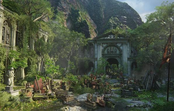 Картинка Naughty Dog, Playstation 4, Uncharted 4, баррикады, Либерталия