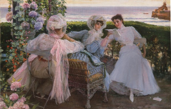 Картинка цветы, три женщины, CORDERO, NOTICIAS DE EL