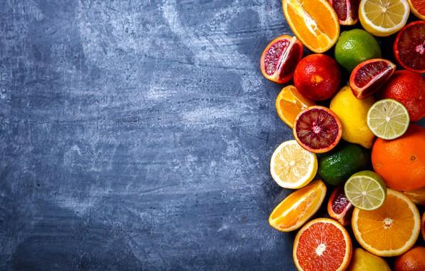 Картинка лимон, апельсины, цитрусы
