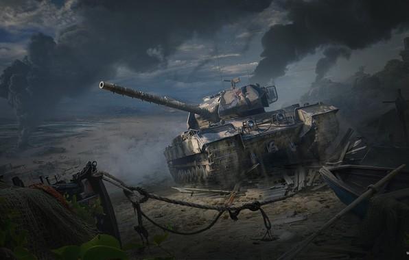 Картинка Война, Арт, Танк, Art, Tank, World of Tanks, Caernarvon Action X, British Tier VIII, Andrey …