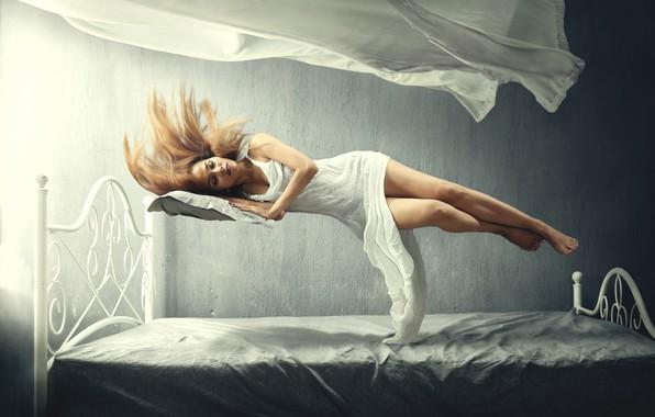 Картинка девушка, сон, girl, sleep, левитация, levitation