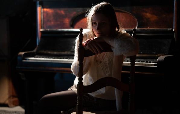 Картинка девушка, настроение, пианино