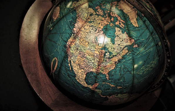 Картинка wallpaper, macro, map, globe, miscellaneous, antiques