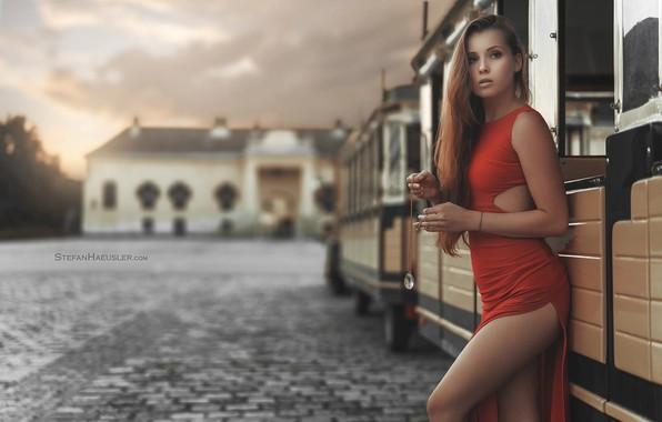 Картинка взгляд, девушка, платье, ножки, вырез, Stefan Häusler