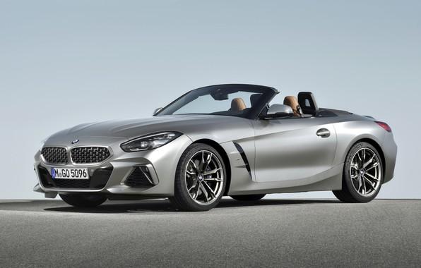 Картинка серый, BMW, родстер, двухместный, BMW Z4, M40i, Z4, 2019, G29