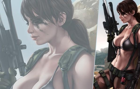 Картинка девушка, оружие, игра