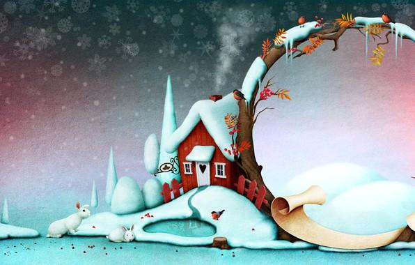 Картинка Новый Год, Рождество, открытка, шаблон, поздравительная