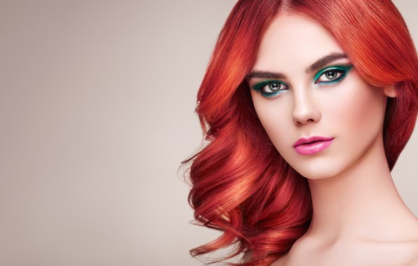 Картинка девушка, стиль, модель, макияж, прическа, рыжие волосы, Oleg Gekman