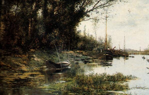Картинка река, лодки, Мыс Пери Нос, Александр Гневушев