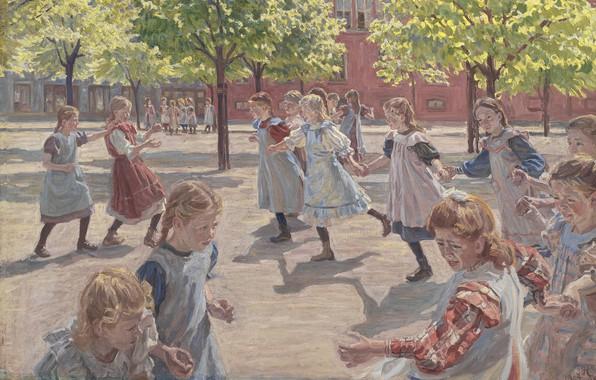 Картинка датский живописец, Copenhagen, 1907-1908, Statens Museum for Kunst, Danish realist painter, Oil on canvas, Государственный …