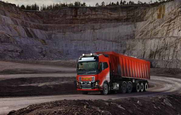 Картинка Volvo, кузов, седельный тягач, карьер, трёхосный, полуприцеп, Volvo FH