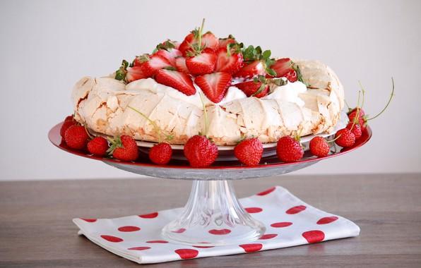Картинка ягоды, клубника, пирог, выпечка