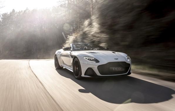 Картинка машина, свет, Aston Martin, DBS, Superleggera, Volante