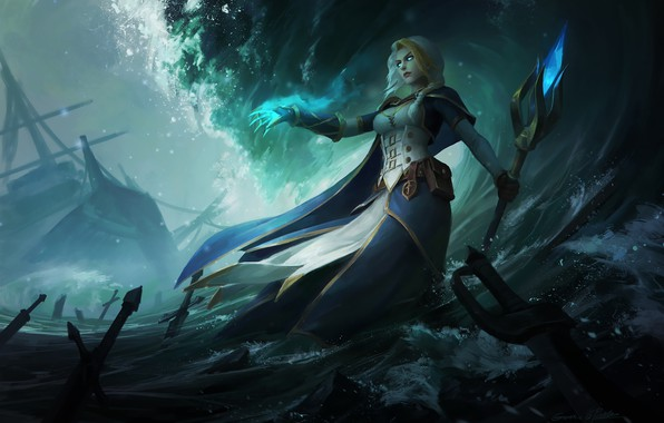 Картинка WOW, Blizzard, WarCraft, Illustration, Jaina Proudmoore, Characters, Fan art, Jaina, Game Art, World of WarCraft, …