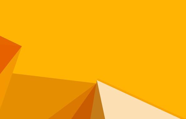 Картинка жёлтый, фон, yellow, lines, orange, shapes, corners