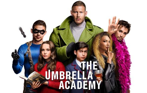 Картинка взгляд, белый фон, сериал, актеры, Фильмы, Академия Амбрелла, The Umbrella Academy
