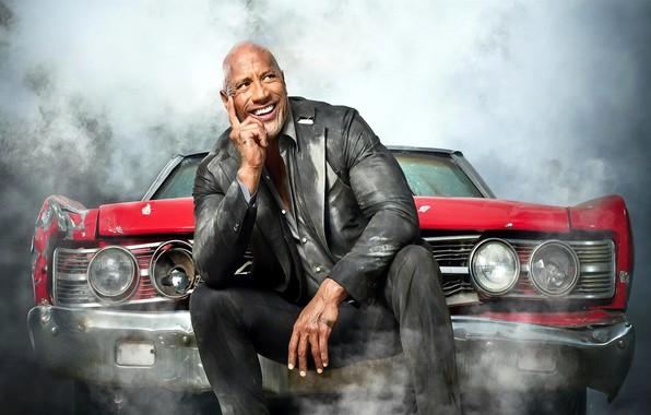 Картинка машина, улыбка, пыль, Хоббс, Fast & Furious Presents: Hobbs & Shaw, Форсаж: Хоббс и Шоу