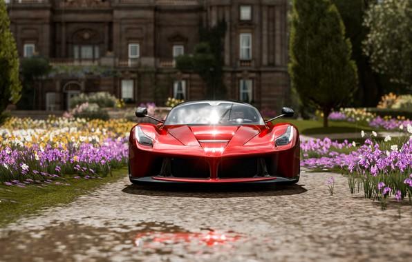 Картинка Ferrari, Scuderia, Italia, RED, Face, LaFerrari, Forza Horizon 4