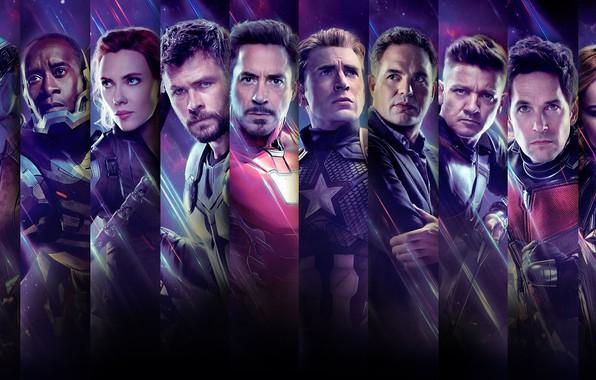 Картинка фантастика, персонажи, Nebula, Iron Man, Captain America, супергерои, Thor, Black Widow, Rocket, War Machine, Ronin, …