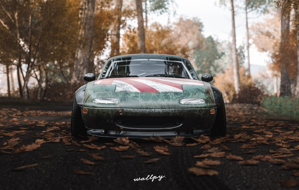 Картинка Microsoft, Mazda, game, 2018, MX-5, Forza Horizon 4, by Wallpy