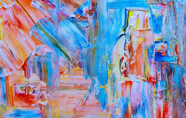 Картинка краска, холст, разноцветный, мазки