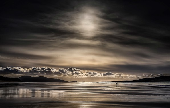 Картинка море, небо, природа, люди, берег
