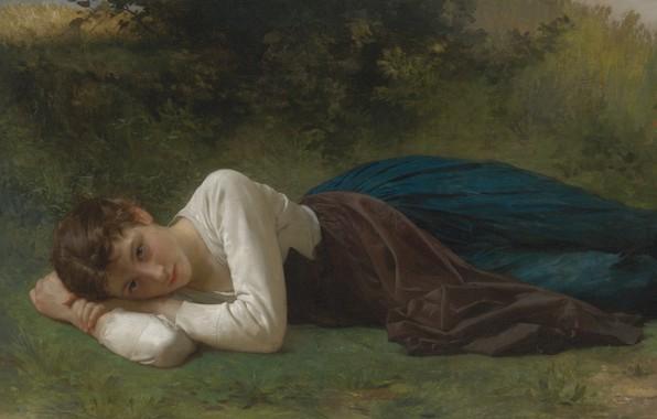Картинка Отдых, 1880, французский живописец, French painter, Вильям Адольф Бугро, La repos, William-Adolphe Bouguereau