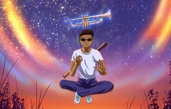 Картинка Music, Cover, Monstercat, Julian Calor, Galactic Trumpet