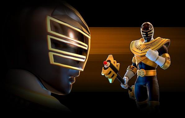 Картинка game, armor, weapon, Power Rangers, staff, Jason Lee Scott, Zeo, Power Rangers: Legacy Wars, gold …