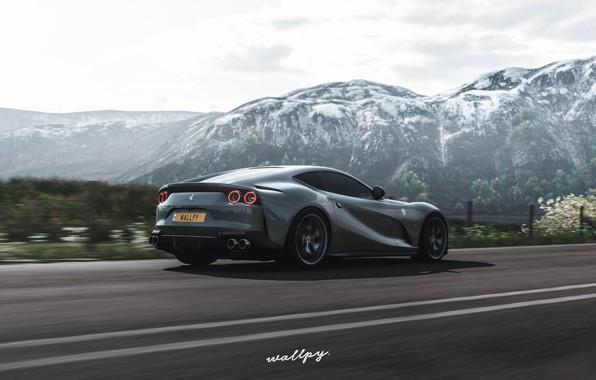Картинка Microsoft, Ferrari, game, 2018, Superfast, game art, 812, Forza Horizon 4, by Wallpy
