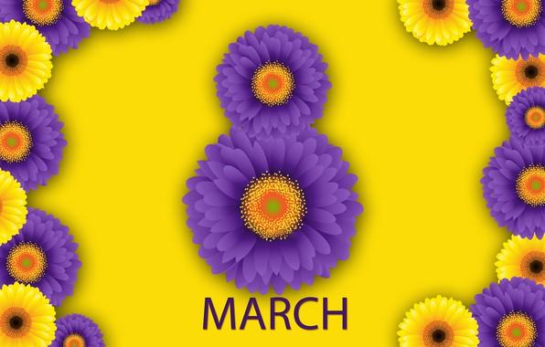 Картинка цветы, happy, 8 марта, хризантемы, flowers, женский день, women's day