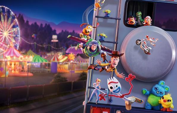 Картинка игрушки, мультфильм, фэнтези, приключения, Toy Story 4, История игрушек 4