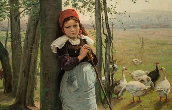 Картинка 1880, oil on canvas, Czech painter, чешский живописец, National Gallery in Prague, Национальная галерея в …