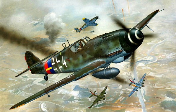 Картинка Messerschmitt, Бомбардировщик, B-17, Bf-109, Gustav, Bf.109G-10, Подвесной топливный бак