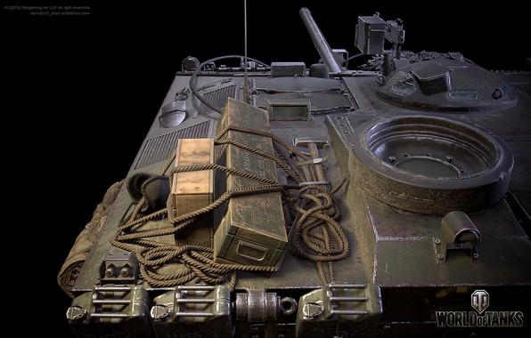 Картинка рендеринг, игра, game, танки, bitch, rendering, wot, самоходка, tanks, орудие, Мир Танков, противотанковая, world of …