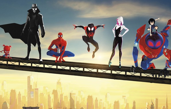Картинка Spider Man, Ultimate Spider-Man, Amazing Spider-Man, Spider Gwen, Spider-Ham, Spider Man:Into The Spider-Verse, Noir Spider …