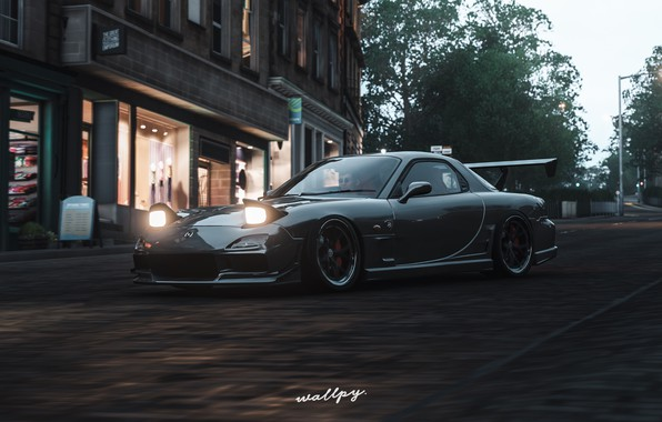 Картинка Microsoft, Mazda, game, 2018, RX-7, Forza Horizon 4, by Wallpy