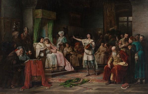 Картинка 1882, oil on canvas, Czech painter, чешский живописец, National Gallery in Prague, Национальная галерея в …