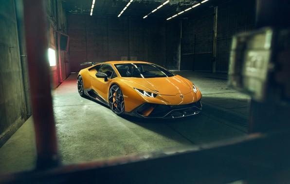 Картинка Lamborghini, вид спереди, 2018, Performante, Novitec, Huracan