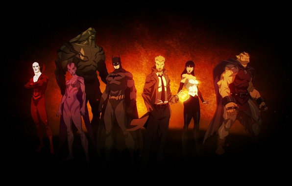 Картинка batman, бэтмен, демон, команда, орхидея, team, DC comics, Zatanna, мертвец, антигерой, deadman, Затанна, DC, Dark …