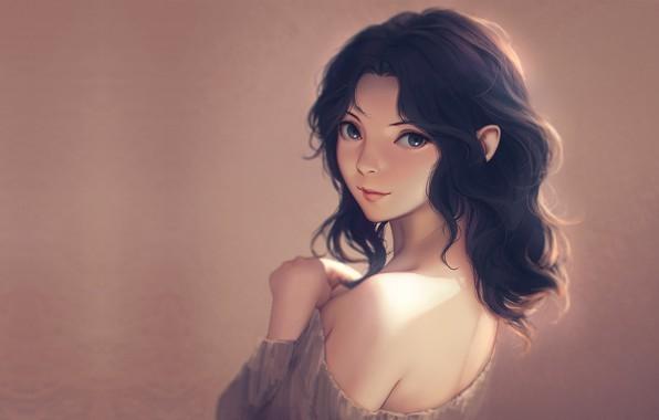 Картинка девушка, портрет, аниме, арт, Miura N315, Kaoru