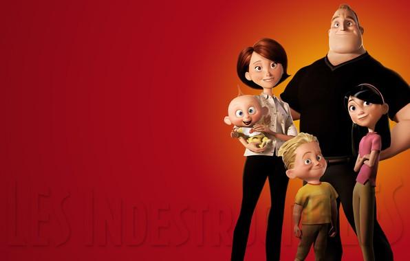 Картинка фон, семья, The Incredibles, Суперсемейка