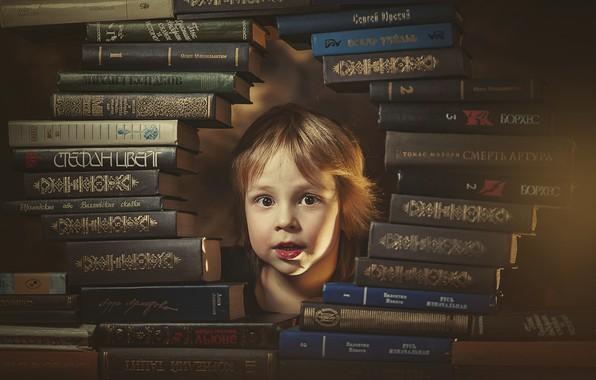 Картинка книги, голова, мальчик, ребёнок, Ксения Лысенкова