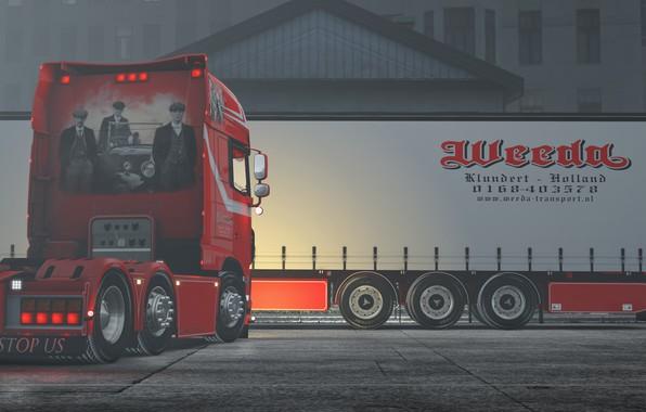 Картинка зима, Daf, Euro truck simulator 2